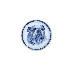Wandbord Deens Blauw Bulldog