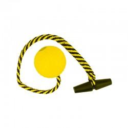 Drijvende bal geel met lang...